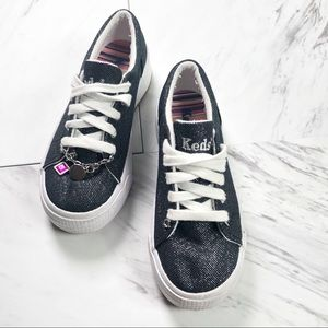 keds | Glisten Black Canvas Sneakers Size 12.5